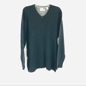 NORDSTROM 100% Lambswool Charcoal Sweater XXL